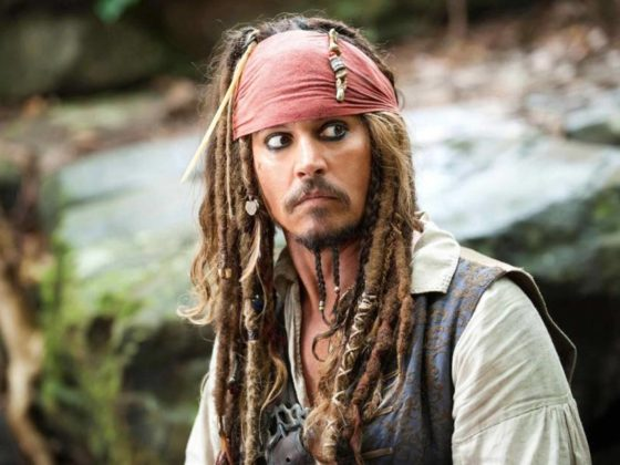 Johnny Depp en Piratas del Caribe